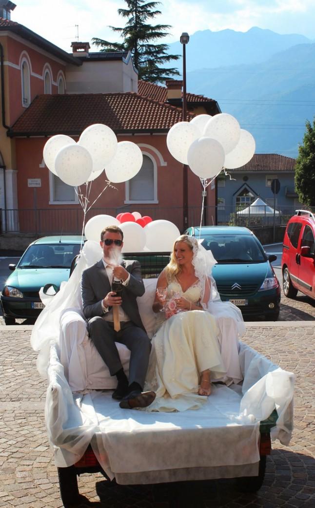 mariés remorque ballons