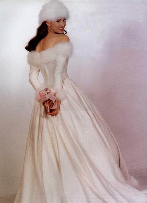 Mariage robe hiver