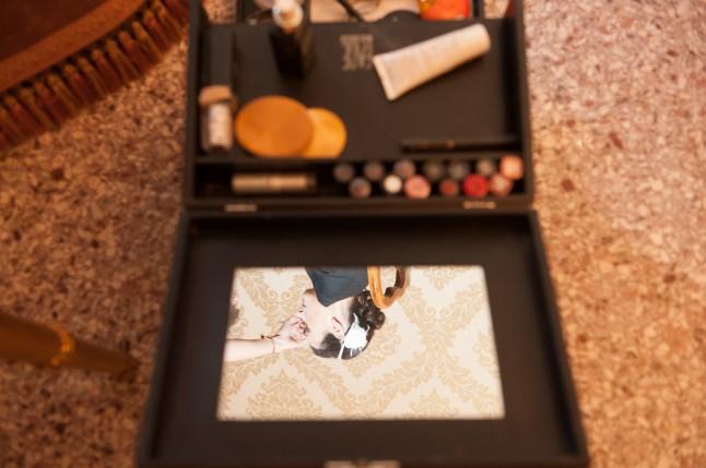 Mariage civil à Venise préparatifs maquillage mariée