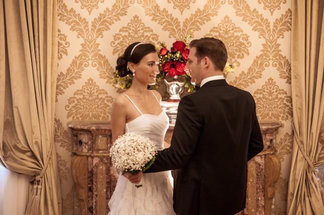 Mariage civil à Venise la découverte des mariés