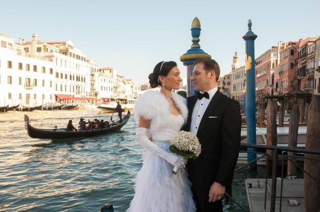 Mariage à Venise trajet vers la Mairie