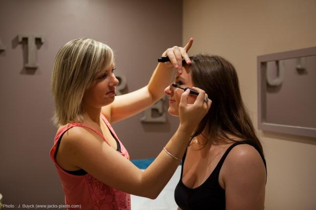 préparatifs maquillage mariage