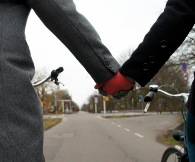 Prêts pour se marier à vélo