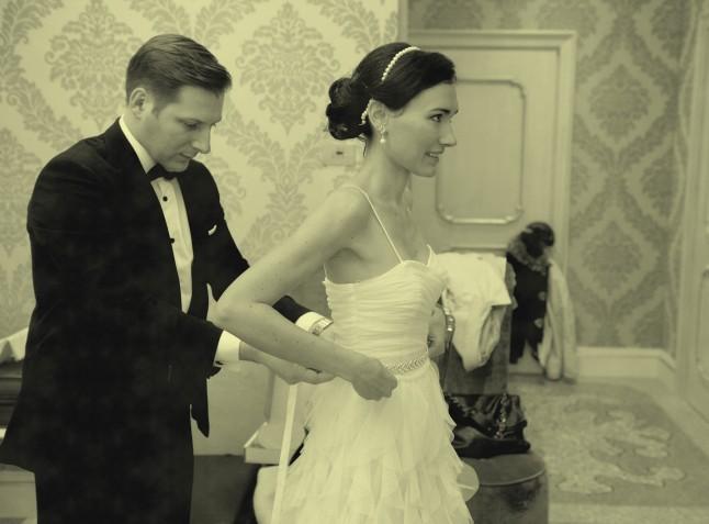 Mariage civil à Venise préparatifs robe de mariée