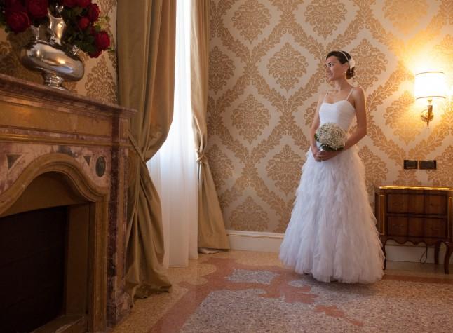 Mariage civil à Venise préparatifs la mariée