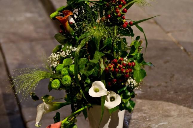 Déco florale cérémonie religieuse mariage