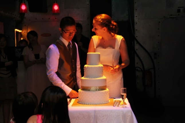 wedding cake mariage péniche