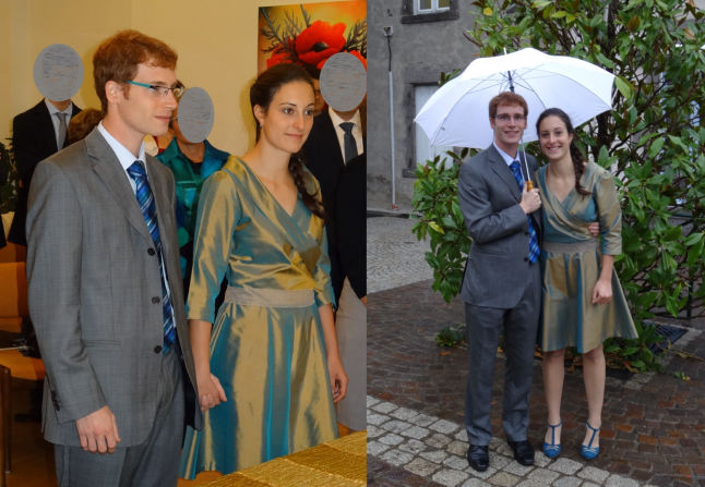 Photos de couple sortie mariage civil