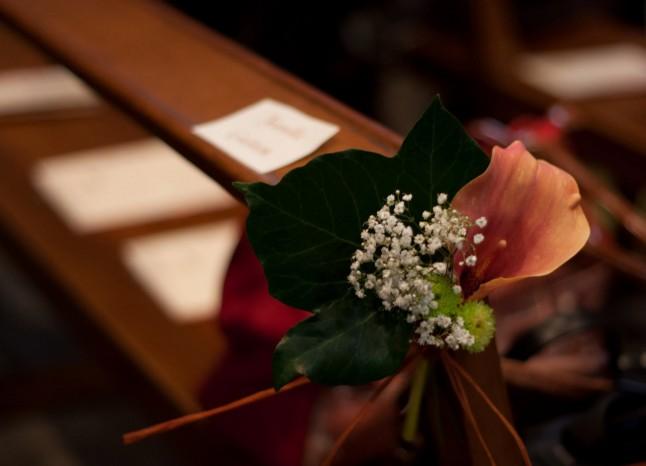 Déco florale église mariage