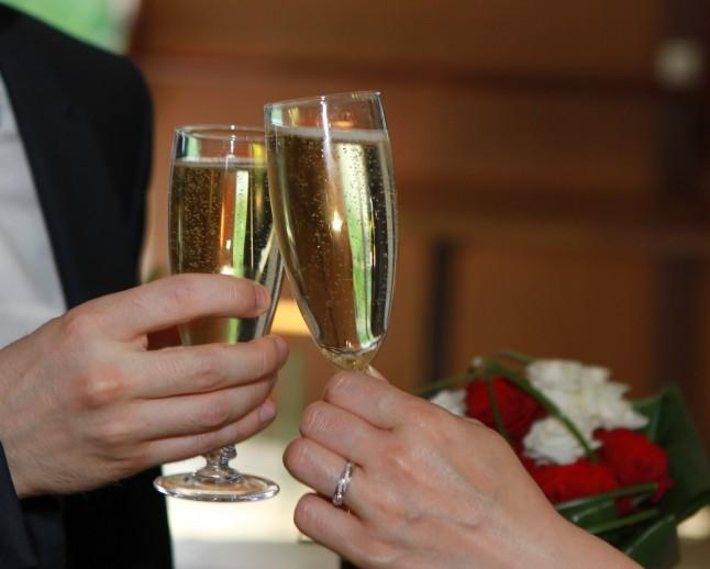 Vin d'honneur au Champagne