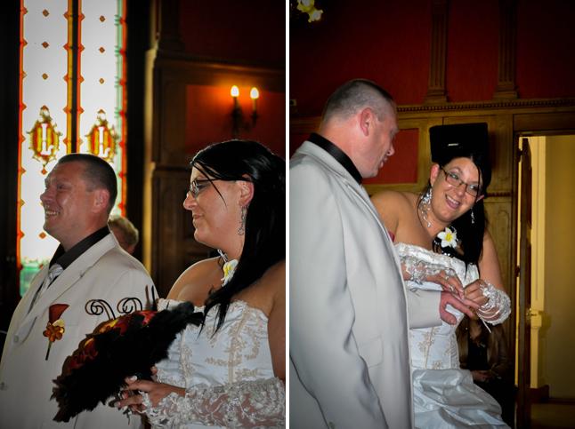 mariage à la mairie bouquet et passage de l'alliance