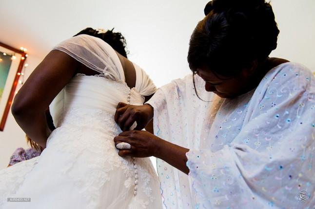 habillage mariée de couleur
