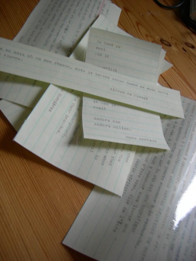 Textes mariage à la machine à écrire