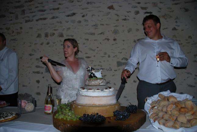 pièce montée de fromages mariage champêtre romantique