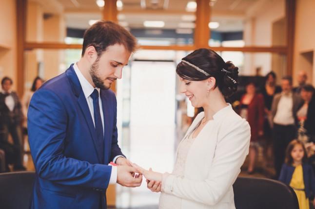 Echange des alliances mariage civil
