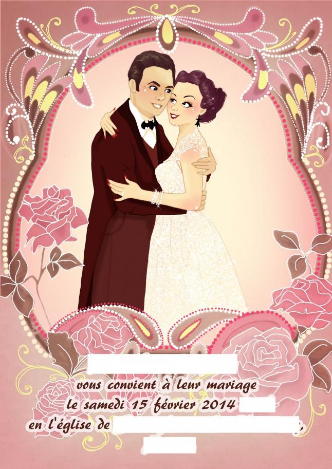 Faire-part mariage personnalisé