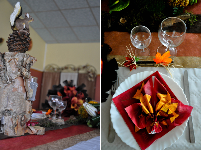 déco de table mariage thème automne