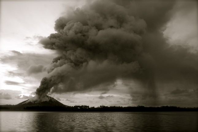 explosion volcan