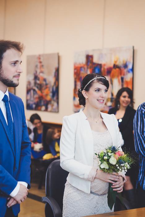 mariage civil mariée enceinte