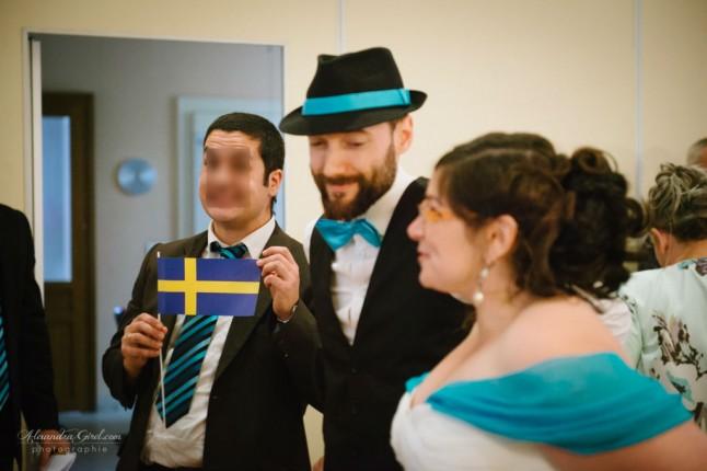 Facétie témoin de mariage cérémonie civile