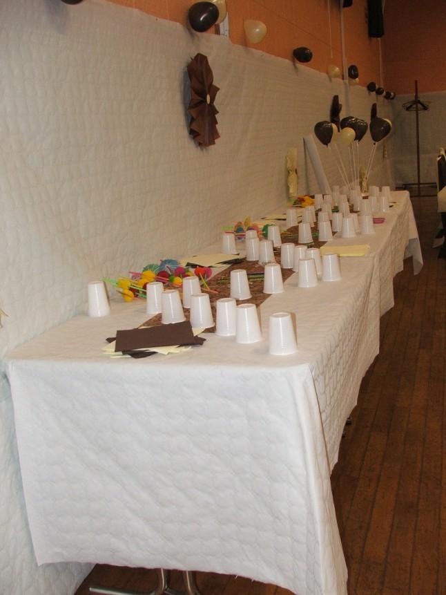 Décoration de la salle de réception mariage