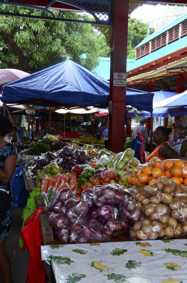 Marché de Victoria voyage de noce aux Seychelles