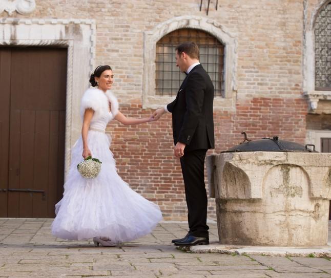 séance photos couple romantique mariage à Venise