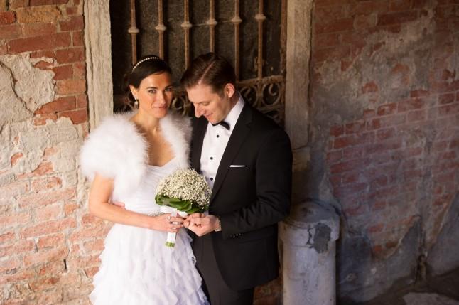 Jeunes mariés à Venise