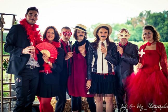 mariage en rouge photobooth