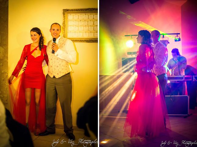 mariage en rouge robe pour la soirée