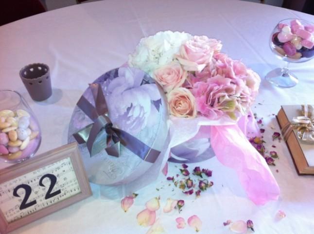 Chez Fleur déco florale mariage boîte à chapeau