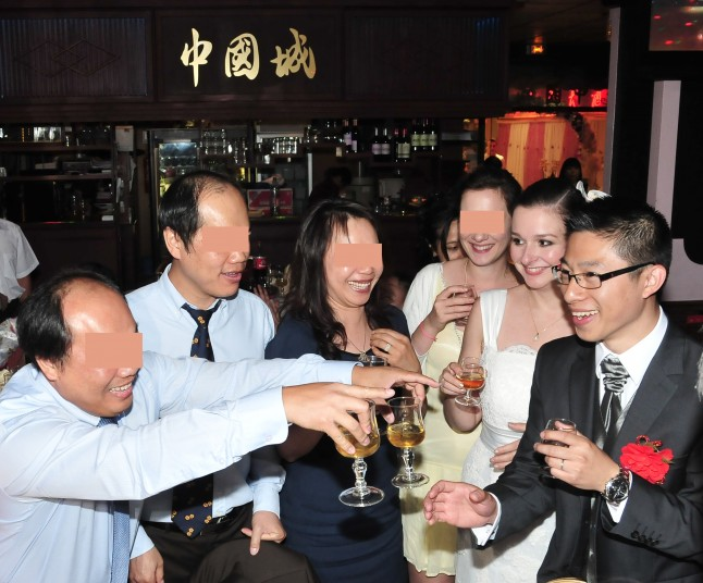 Verre de cognac mariage traditionnel chinois