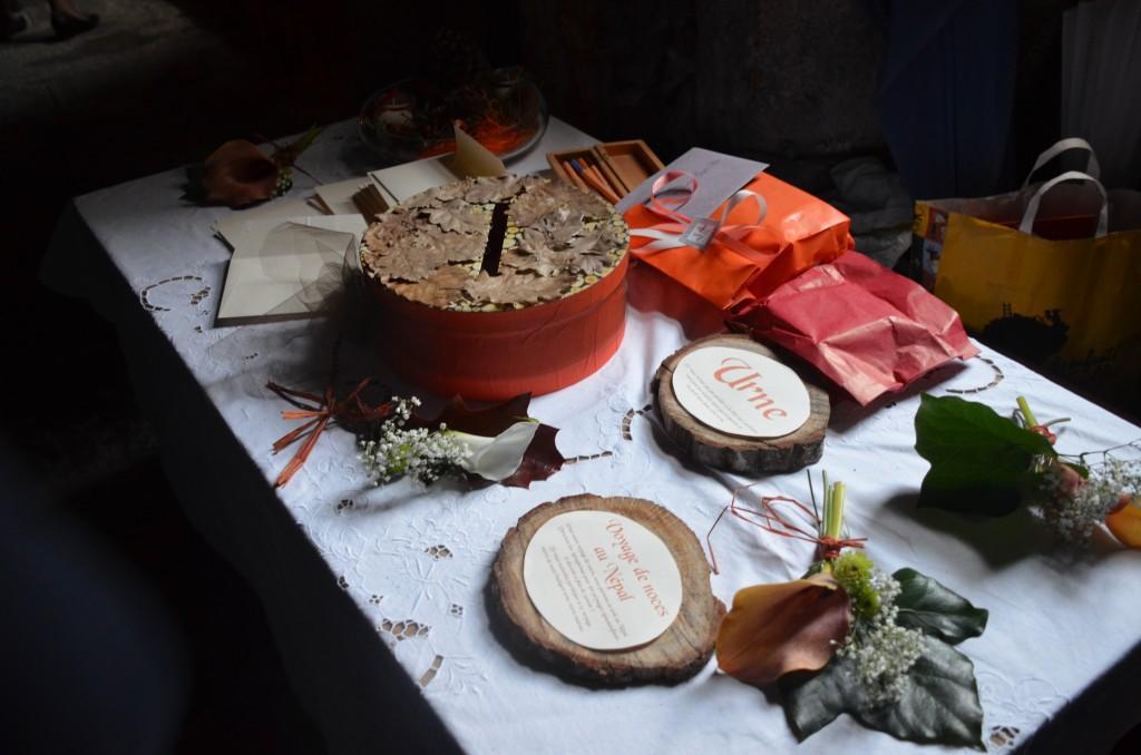 Urne de mariage DIY thème automne