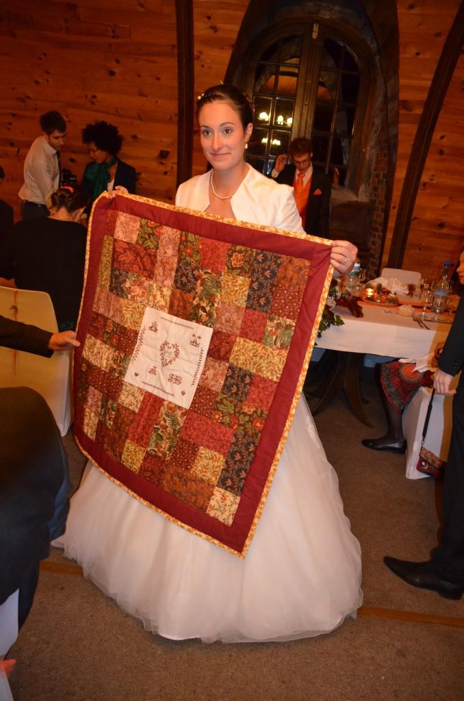 cadeau de mariage patchwork