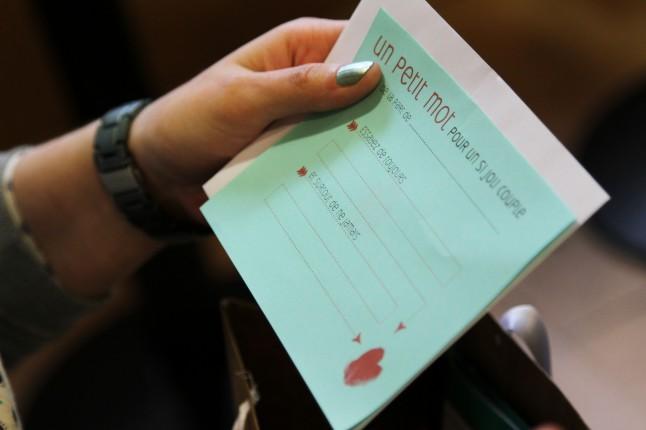 Cartes conseils aux invités mariage Starbucks