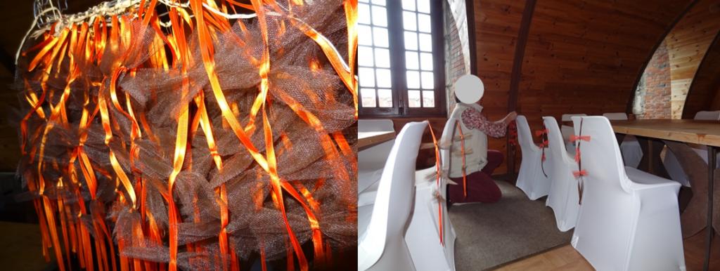 nœuds de chaise DIY réception de mariage