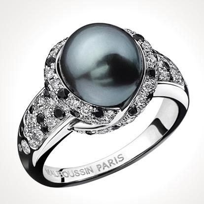 Mauboussin - Bague perle noire