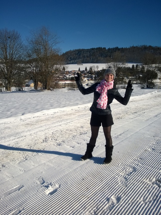 future mariée dans la neige