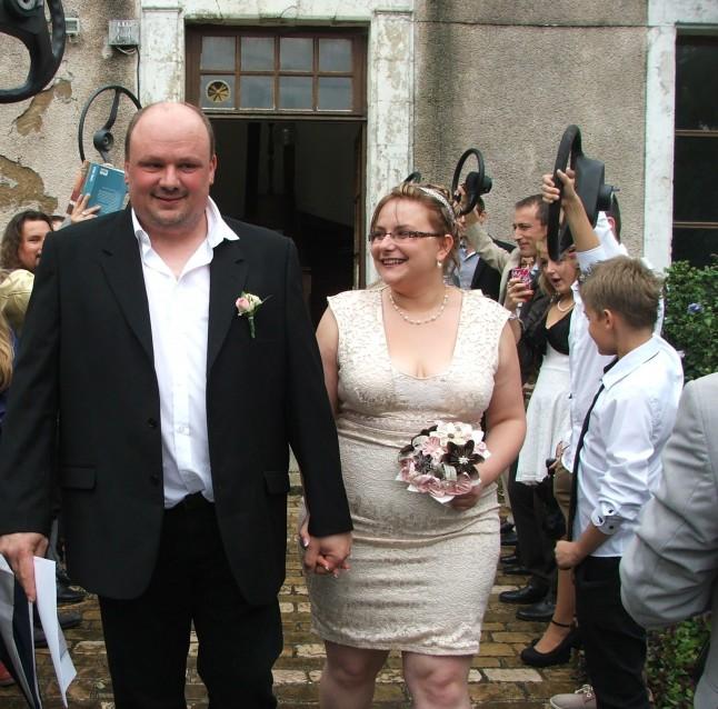 haie d'honneur personnalisée sortie des mariés