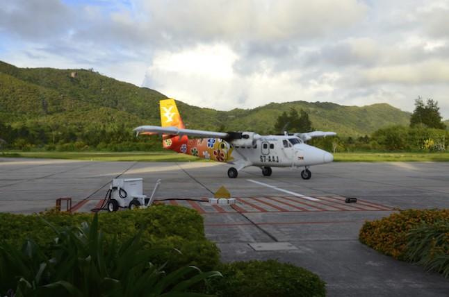 mini avion inter-îles voyage de noce aux Seychelles