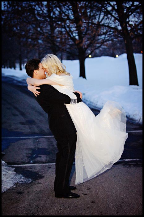 mariage en hiver sous la neige