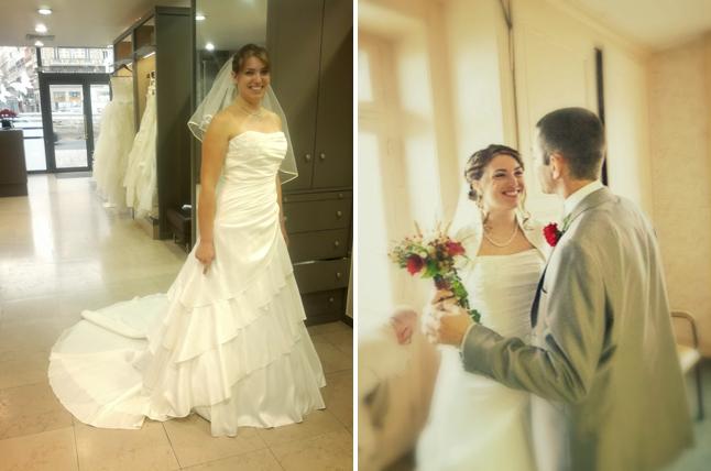 essayage de robe - découverte mariés