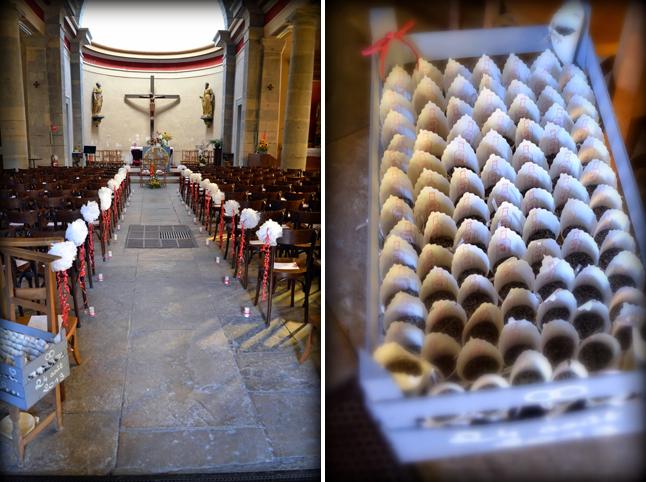 décoration d'église - sachets de confettis