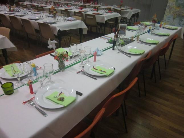 Tables dressées mariage thème enfance