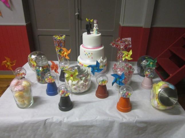 Candy bar mariage thème enfance