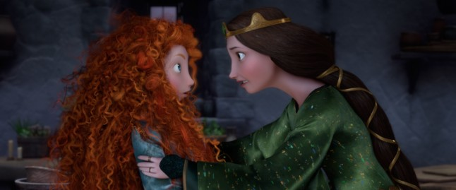 Merida and Queen Elinor in Brave Disney Pixar