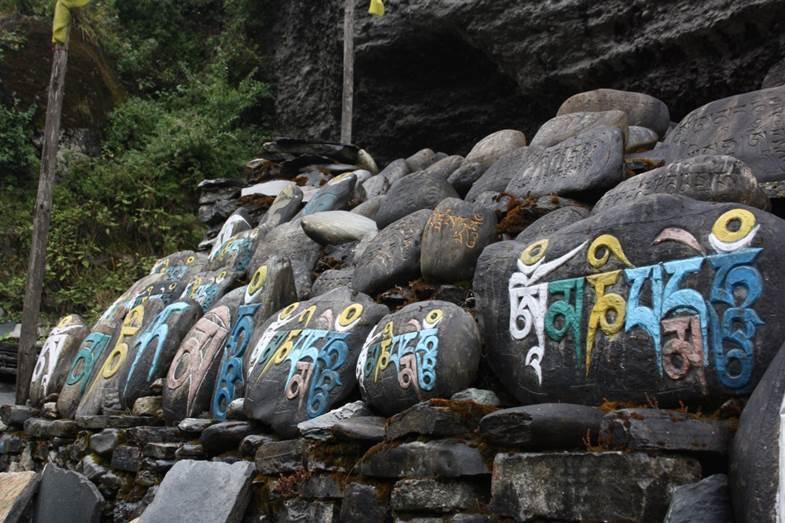 voyage de noce au Népal symboles