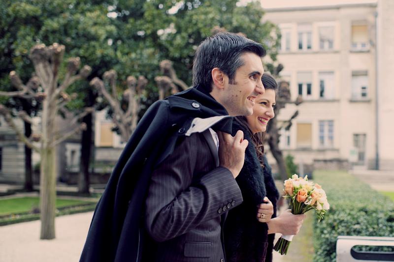 photo de couple mariage parc de la mairie