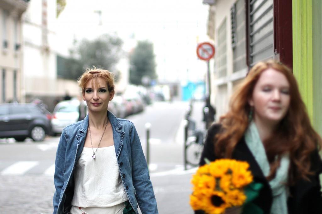 mariée dans les rues de Paris