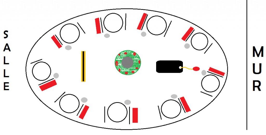 plan déco de table